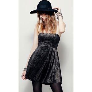 Free People | Metallic Shattered Velvet Dress